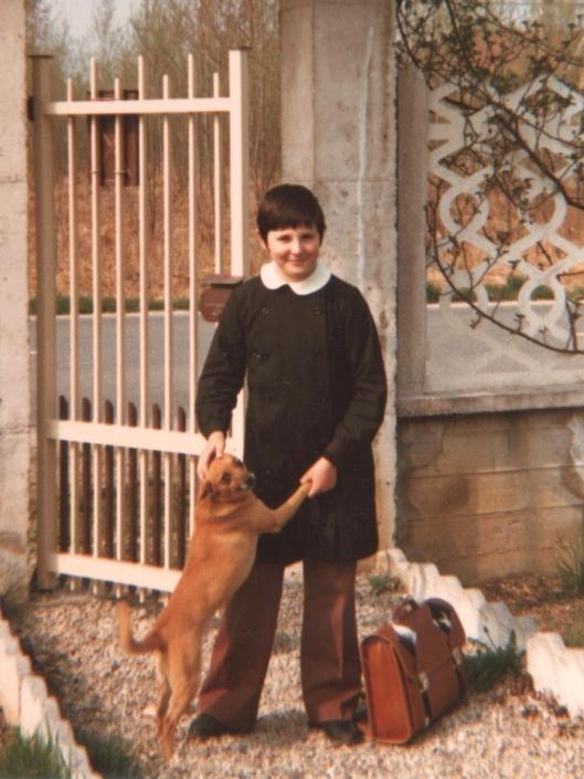 Lampo mi accoglie al mio arrivo da scuola, 1982